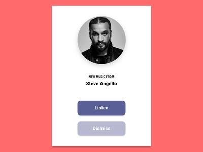 DailyUI::016 (Pop-up/Overlay) music app new music popup ui dailyui