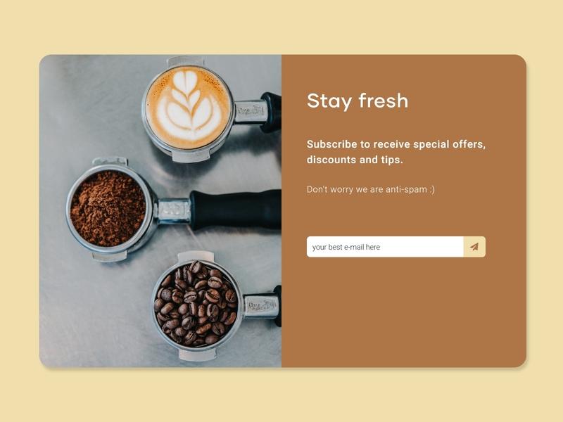 DailyUI::026 (Subscribe) subscribe coffe adobe xd dailyui100 ui dailyui