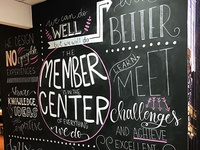 Wall lettering - Composition