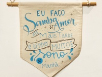 hand lettering wall hanging