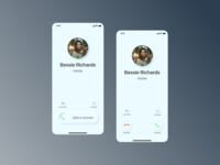 Redesign iPhone Incoming Call  in Neumorphism Style