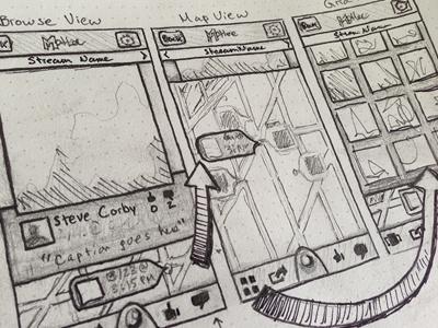 Motlee UI Sketches ui wireframes