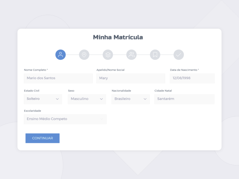 Step by Step Form by Wilfison Batista on Dribbble