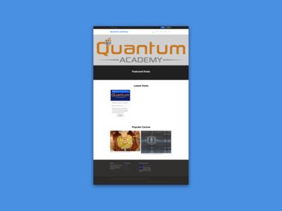 Quantum Academy (Design Update)