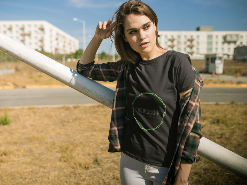 CrowdCoin T-Shirt mockups branding design graphics