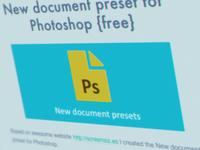 New document preset - Free