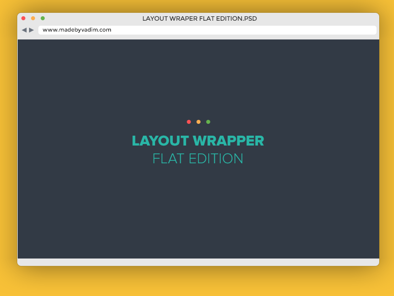 Layout Wrapper flat edition free flat colors new script action madebyvadim safari wrapper browser design free