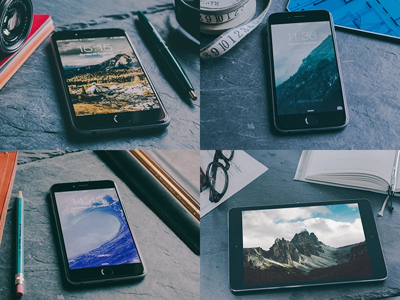 Free iPhone 6, 6+ & iPad mockups free freebie cool mockup iphone 6 ipad perspective awesome mock-up dark mock up