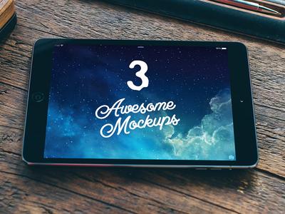 Free 3 iPad&iPhone mockups
