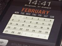 Calendar on lock screen