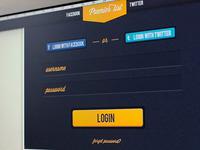 Login page - Premier list