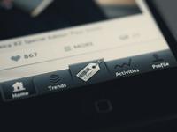 App tap bar big