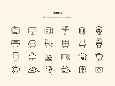 Household products icons