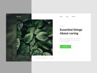 NATR. - main page design