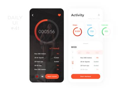 Workout Tracker app tracker timer workout workout tracker wod fitness ui design dailyui