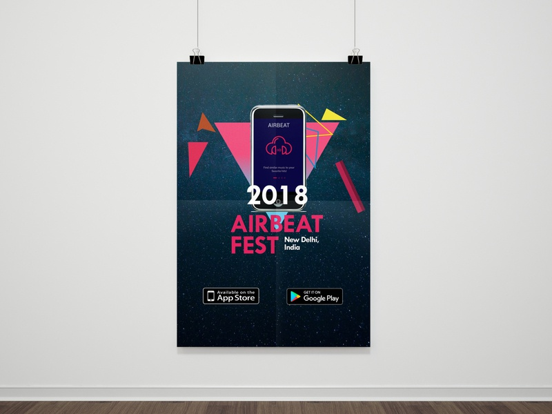 Airbeat Event Agency Poster galaxy elegant event flyer poster design poster agency event airbeat