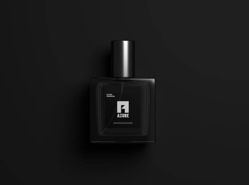 Azure Perfume Branding marketing designer rgb mockups perfume product branding