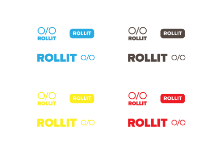 ROLLIT Logo Concepts identity logo mark shapes