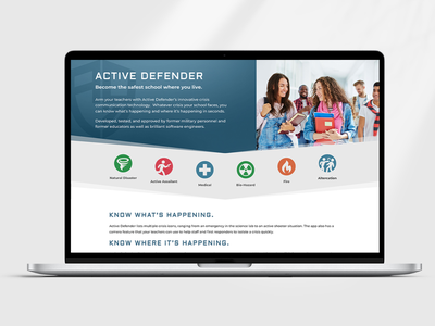 Active Defender Website divi wordpress web development graphic design branding product design application design security app school safety ui design website ux design web design