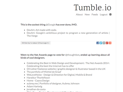 Tumble.io v1 links web grey