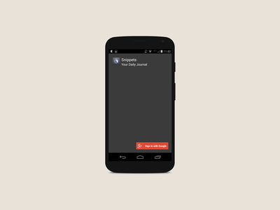 Snippets Login Screen android login splash