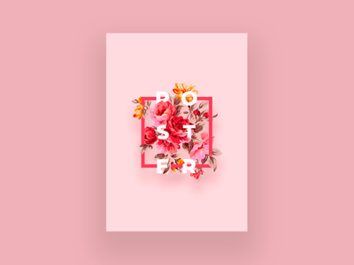 Flowers poster design