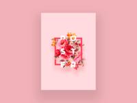 Flowers poster design