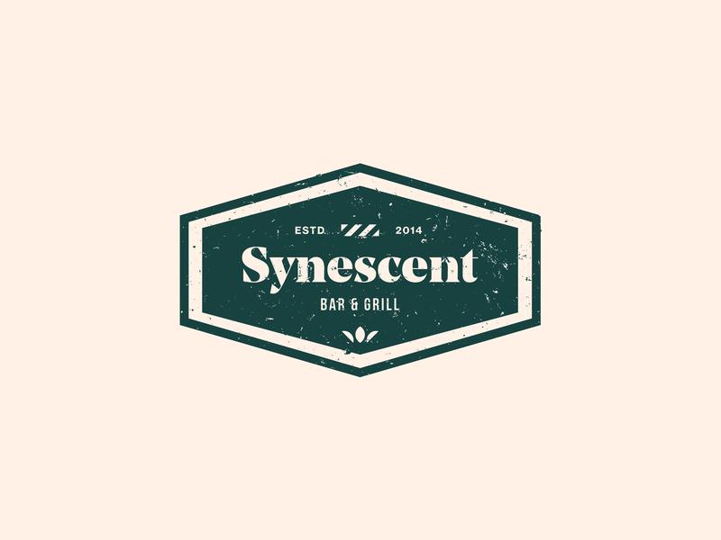 Synescent logo old grange vector illustration typography photoshop logotype design logo illustrator