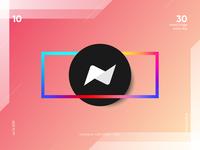 #10 simple n logomark