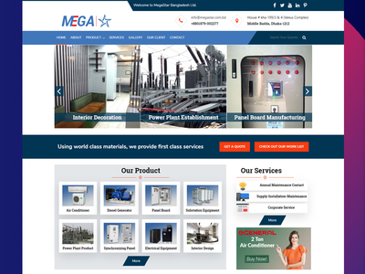 Megastar Bangladesh Ltd Website Design