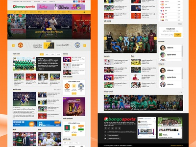 Bongosports - Online Sports News Website UI Design