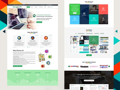 Bongosoft Ltd Company's Website UX / UI Design