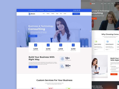 Benzin – Business Consulting HTML5 Template design front end design bootstrap theme uxui web design