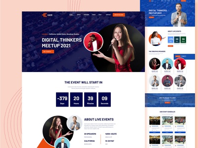 Conference & Multi Event HTML5 Bootstrap Template css3 html uxui design web design front end design bootstrap theme ui