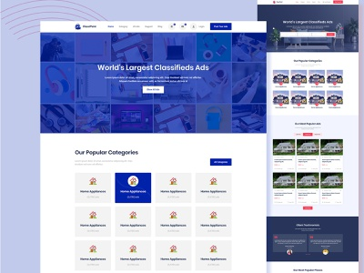 ClassiPoint – Classified Ads Web HTML5 Site Template css3 html uxui ui logo web design front end design design bootstrap theme