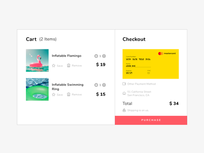 Daily UI #002 – Credit Card Checkout Screen ui uidesign web shopping creditcardcheckout creditcard dailyuichallenge dailyui002 dailyui