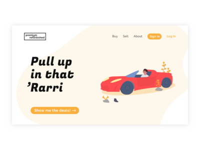 Daily UI #003 – Landing Page Screen