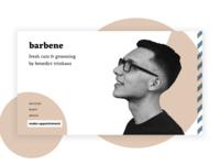 barbene Barbershop Minimal Landing Page