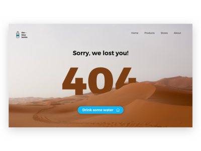 Daily UI #008 – 404 Page
