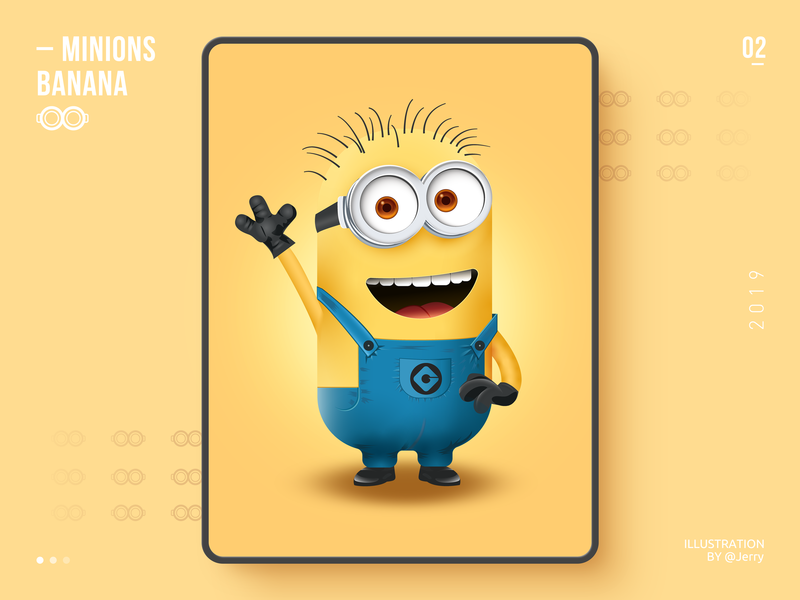 Minions - Jerry monster icon vision yellow adobe illustration ai minions web graphic illustrations design