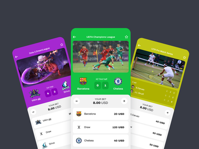 Live sport events | Betting app win match score sport sports juicy flat colourful betting app app mobile interface minimal esport tennis football gambling gaming game betting