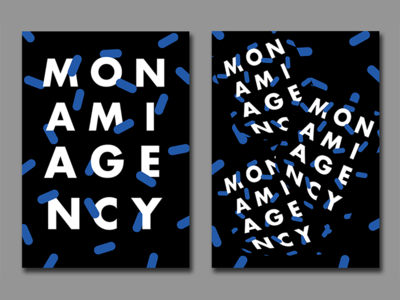 Monami Agency Launch Party — Posters & Visual Identity visual identity animation graphic design poster