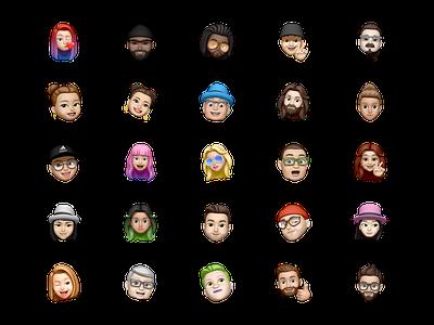 Memoji free avatar pack for Sketch data sketch avatar apple memoji