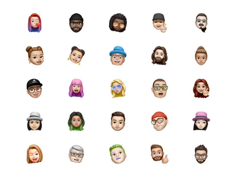 Memoji free avatar pack for Sketch data sketch avatar apple memoji