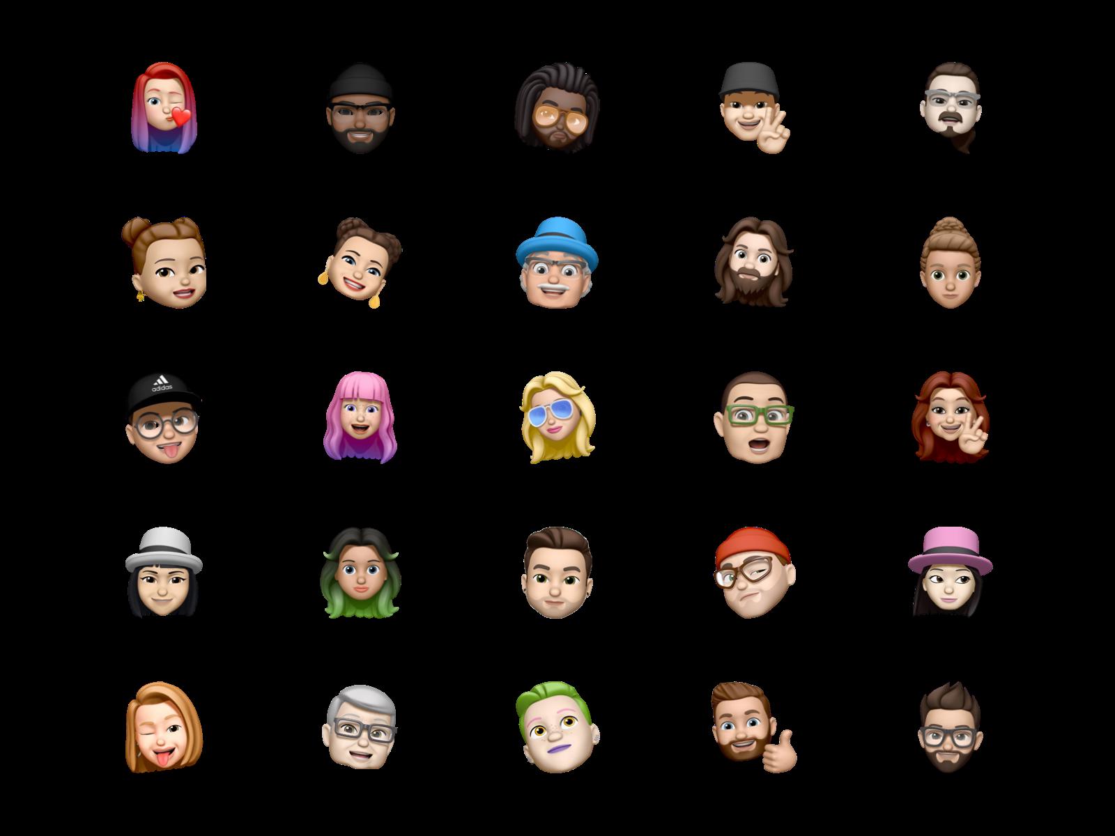 Memoji free avatar pack for Sketch
