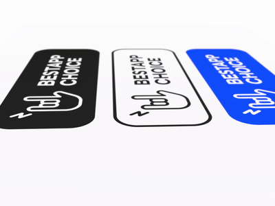 BestApp Choice Bagde iconset ui 3d animation video badge