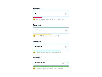 Password strength meter fields password passwords ui
