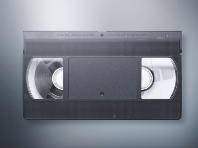 VHS videocassete vector video illustration vhs