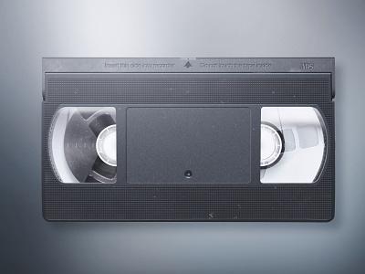 VHS videocassete vector video illustration vhs