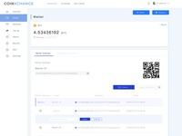 Coinxchange – Wallet and Address Page